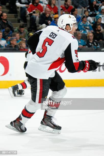 Cody Ceci of the Ottawa Senators skates during a NHL game against the San Jose Sharks at SAP Center on December 9 2017 in San Jose California
