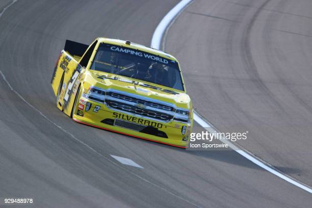 Cody Coughlin GMS Racing Chevrolet Silverado during practice for the Stratosphere 200 NASCAR Camping World Truck Series race on March 1 at Las Vegas...