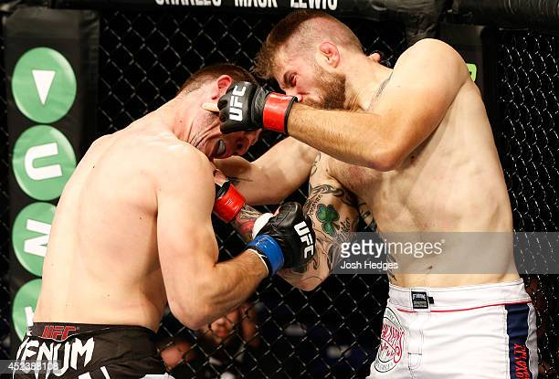 Cody Donovan connects with a right uppercut against Nikita Krylov in their light heavyweight bout during the UFC Fight Night event at The O2 Dublin...