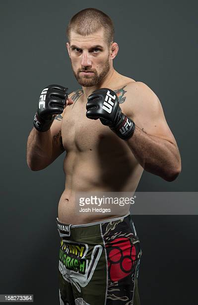Cody Donovan poses for a portrait ahead of his UFC on FX bout on December 12 2012 at the Hilton Hotel in Surfers Paradise Queensland Australia