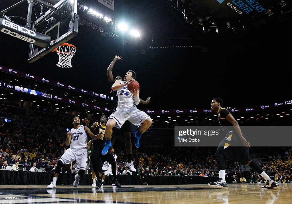 Cody Ellis #24 of the Saint Louis Billikens atemts to shot a basket during the Atlantic 10 Basketball Tournament - Championship Game at Barclays Center on March 17, 2013 in the Brooklyn borough of New York City. Saint Louis Billikens defeated Virginia Commonwealth Rams 62-56.