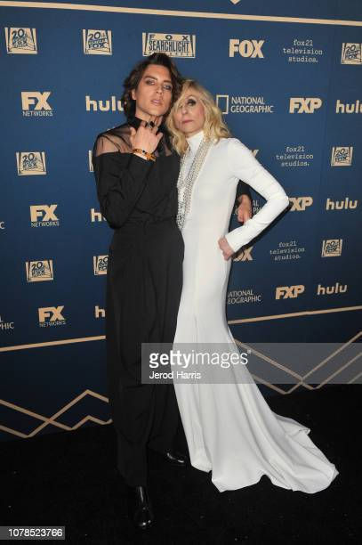 Cody Fern and Judith Light attend the FOX FX and Hulu 2019 Golden Globe Awards After Party at The Beverly Hilton Hotel on January 6 2019 in Beverly...