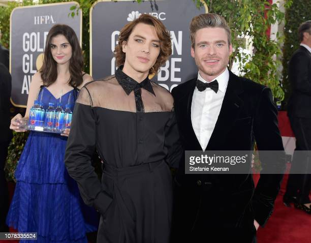 Cody Fern and Richard Madden attend FIJI Water at the 76th Annual Golden Globe Awards on January 6 2019 at the Beverly Hilton in Los Angeles...