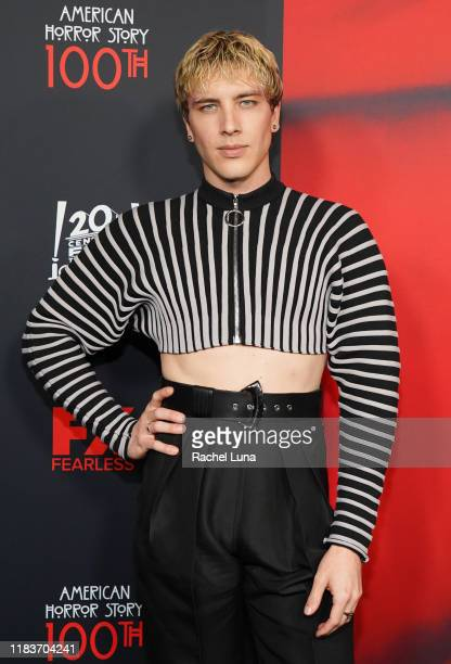 Cody Fern attends FX's American Horror Story 100th Episode Celebration at Hollywood Forever on October 26 2019 in Hollywood California