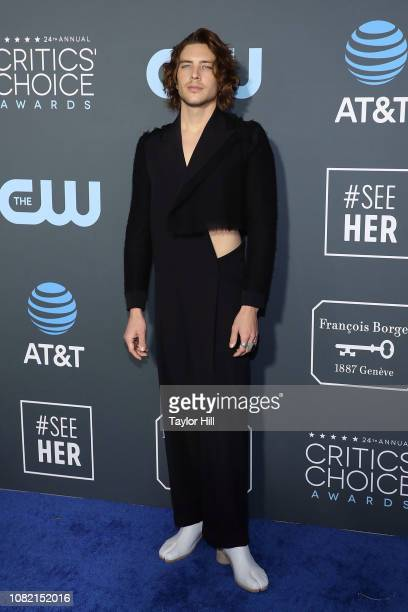 Cody Fern attends The 24th Annual Critics' Choice Awards at Barker Hangar on January 13 2019 in Santa Monica California