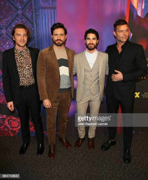 Cody Fern Edgar Ramirez Darren Criss and Ricky Martin attend the for your consideration event for FX's 'The Assassination Of Gianni Versace American...