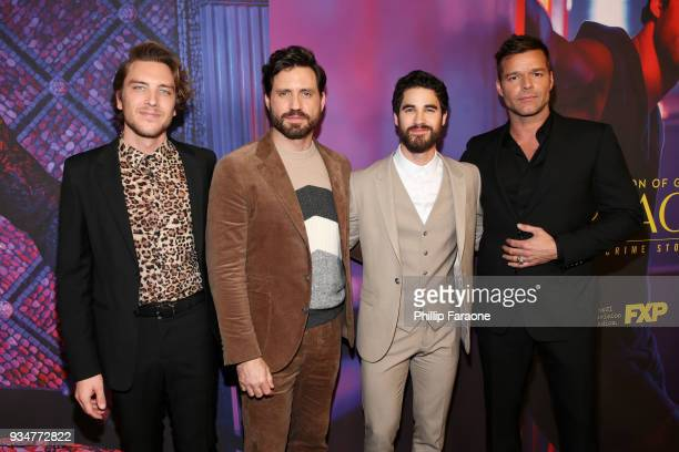 Cody Fern Edgar Ramirez Darren Criss and Ricky Martin attend the For Your Consideration Event for FX's The Assassination of Gianni Versace American...
