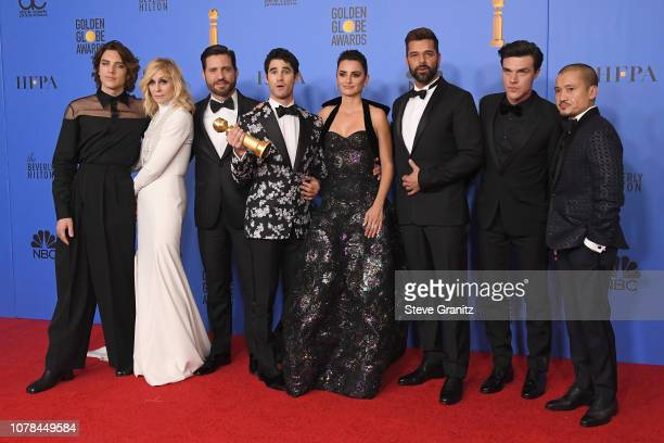 Cody Fern Judith Light Edgar Ramirez Darren Criss Penelope Cruz Ricky Martin Finn Wittrock and Jon Jon Briones pose in the press room during the 76th...