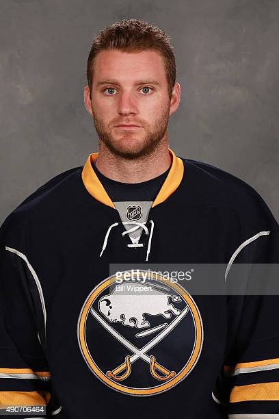 Cody Franson of the Buffalo Sabres poses for his official headshot for the 20152016 season on September 17 2015 at the First Niagara Center in...