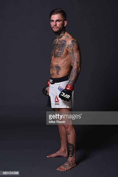 Cody Garbrandt poses for a portrait backstage during the UFC 189 event inside MGM Grand Garden Arena on July 11 2015 in Las Vegas Nevada