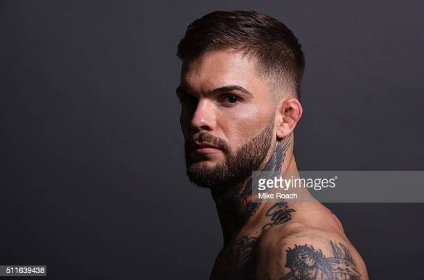 Cody Garbrandt poses for a post fight portrait backstage during the UFC Fight Night event at Consol Energy Center on February 21 2016 in Pittsburgh...