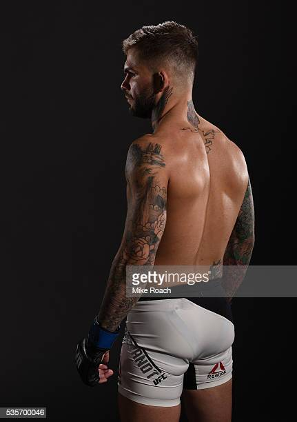 Cody Garbrandt poses for a post fight portrait backstage during the UFC Fight Night Event inside the Mandalay Bay Events Center on May 29 2016 in Las...