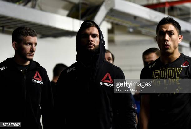 Cody Garbrandt prepares to enter the Octagon before facing TJ Dillashaw in their UFC bantamweight championship bout during the UFC 217 event inside...