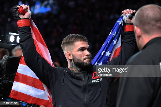 Cody Garbrandt walks to the octagon in his bantamweight bout during the UFC 235 event at TMobile Arena on March 2 2019 in Las Vegas Nevada