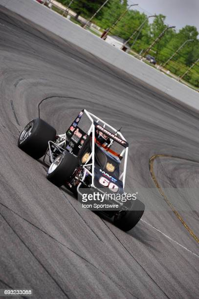 Cody Gerhardt Gerhardt makes a lap in time trials for the Carb Night Classic United States Auto Club Silver Crown Champ Car Series 100lap feature...