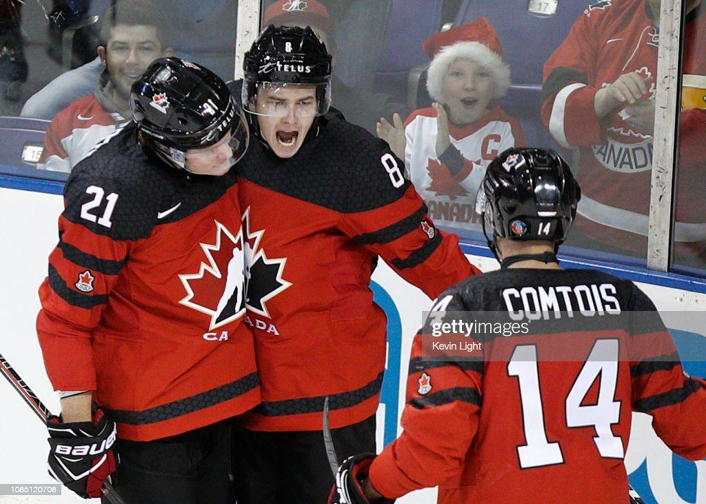 Canada v Switzerland: Exhibition - 2019 IIHF World Junior Championship : News Photo