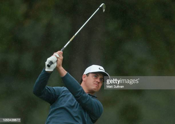 Cody Gribble hits his tee shot on the seventh hole during the first round of the Sanderson Farms Championship at the Country Club of Jackson on...
