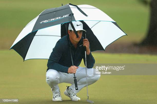 Cody Gribble lines up a birdie putt on the sixth hole during the first round of the Sanderson Farms Championship at the Country Club of Jackson on...