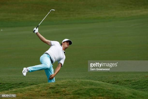 Cody Gribble of the United States reacts on the fourth hole during the third round of THE PLAYERS Championship at the Stadium course at TPC Sawgrass...