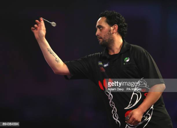 Cody Harris during day four of the William Hill World Darts Championship at Alexandra Palace London