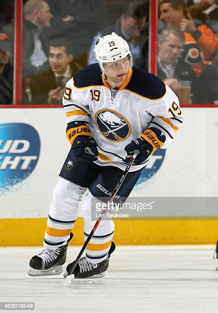 Cody Hodgson of the Buffalo Sabres skates against the Philadelphia Flyers on November 21 2013 at the Wells Fargo Center in Philadelphia Pennsylvania