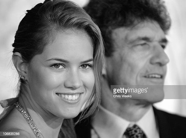 Cody Horn and Alan Horn of Warner Bros during Warner Bros Pictures' North Country Los Angeles Premiere Black White Photography by Chris Weeks at...