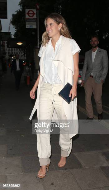 Cody Horn seen leaving her hotel and arriving at Annabel's club in Mayfair on June 4 2018 in London England