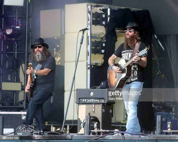 Cody Jinks performs in concert during day two of the second weekend of Austin City Limits Music Festival at Zilker Park on October 14 2017 in Austin...
