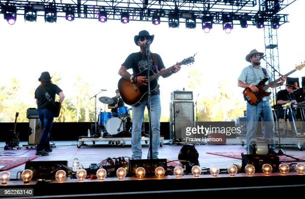 Cody Jinks performs onstage during 2018 Stagecoach California's Country Music Festival at the Empire Polo Field on April 27 2018 in Indio California