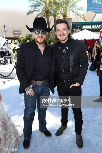 Cody Johnson and Morgan Wallen attends the 54th Academy Of Country Music Awards at MGM Grand Garden Arena on April 07 2019 in Las Vegas Nevada