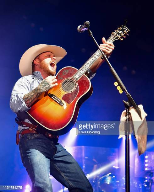 Cody Johnson performs at Ascend Amphitheater on June 08 2019 in Nashville Tennessee