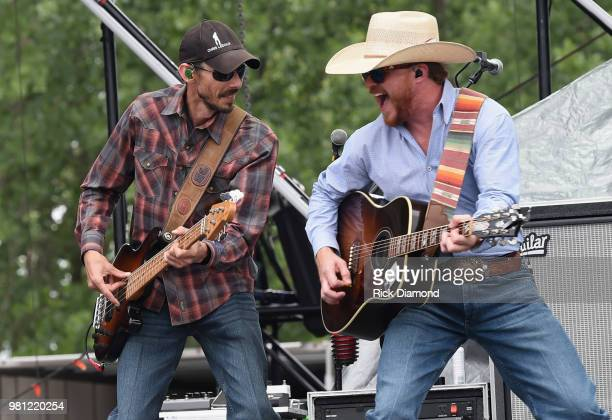 Cody Johnson performs during Kicker Country Stampede Day 1 on June 21 2018 at Tuttle Creek State Park in Manhattan Kansas