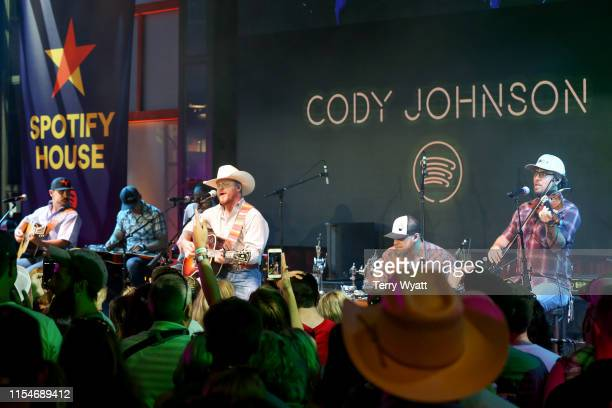 Cody Johnson performs onstage at Spotify House during CMA Fest at Ole Red on June 08 2019 in Nashville Tennessee