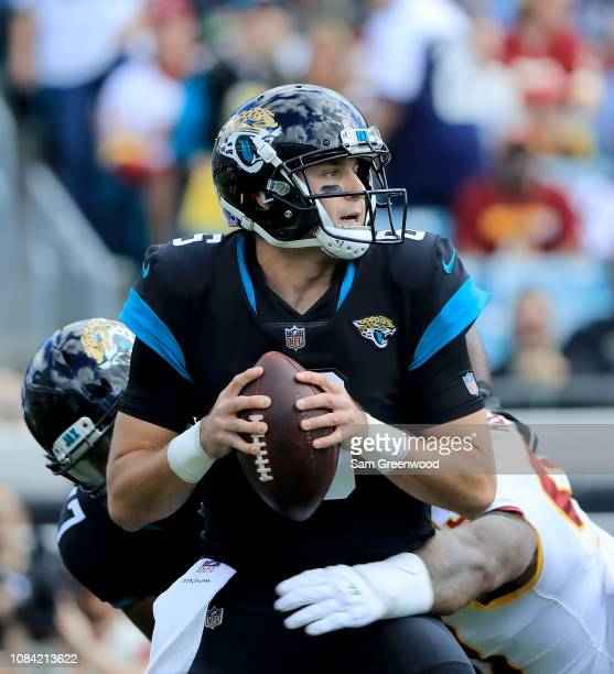 Cody Kessler of the Jacksonville Jaguars attempts a pass during the game against the Washington Redskins at TIAA Bank Field on December 16 2018 in...
