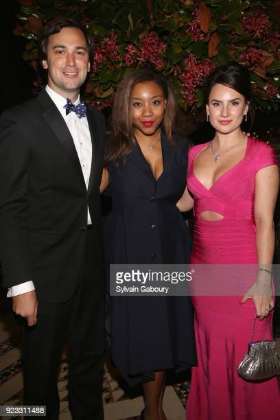 Cody Kittle Arielle Patrick and Alexandra Porter attend Museum of the City of New York Winter Ball on February 22 2018 in New York City