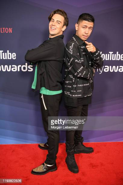 Cody Ko and Noel Miller arrive at the 9th Annual Streamy Awards at The Beverly Hilton Hotel on December 13, 2019 in Beverly Hills, California.