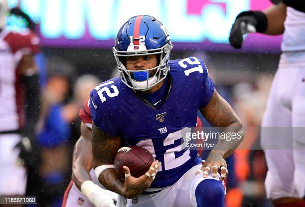Cody Latimer of the New York Giants in action against the Arizona Cardinals at MetLife Stadium on October 20 2019 in East Rutherford New Jersey