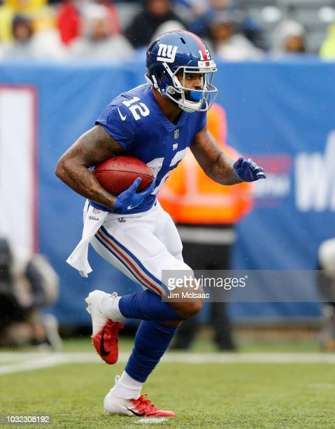 Cody Latimer of the New York Giants in action against the Jacksonville Jaguars on September 9 2018 at MetLife Stadium in East Rutherford New Jersey...