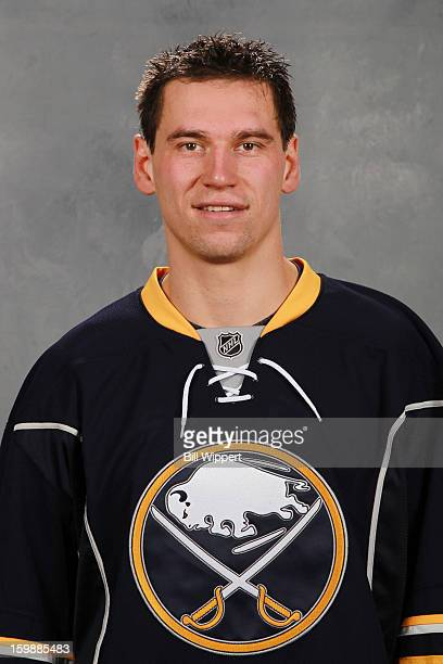 Cody McCormick of the Buffalo Sabres poses for his official headshot for the 20122013 season on January 13 2013 at the First Niagara Center in...
