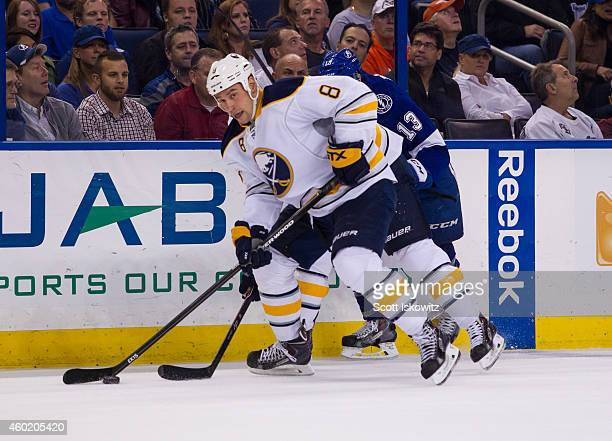 Cody McCormick of the Buffalo Sabres skates against the Tampa Bay Lightning at the Amalie Arena on December 4 2014 in Tampa Florida