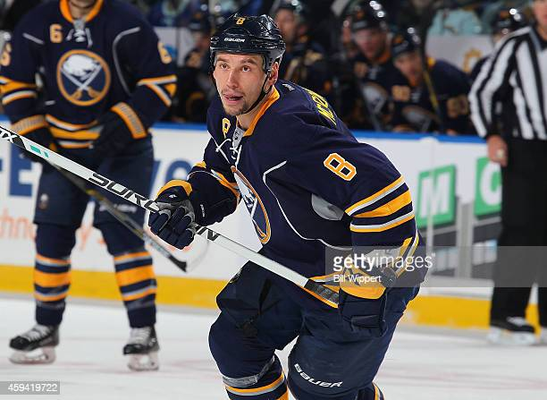Cody McCormick of the Buffalo Sabres skates against the Toronto Maple Leafs on November 15 2014 at the First Niagara Center in Buffalo New York