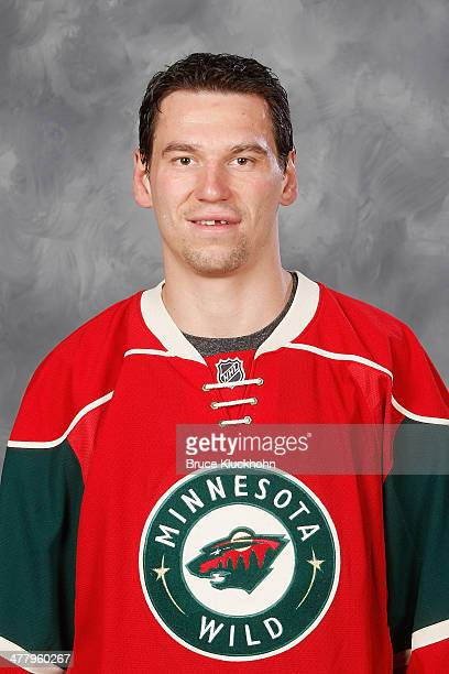 Cody McCormick of the Minnesota Wild has his headshot taken prior to the game against the St Louis Blues on March 9 2014 at the Xcel Energy Center in...