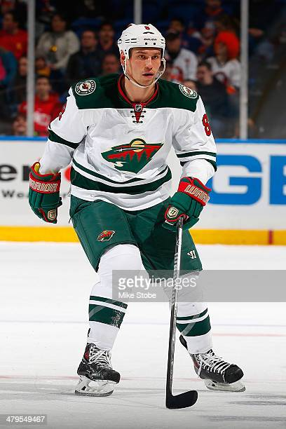 Cody McCormick of the Minnesota Wild skates against the New York Islanders at Nassau Veterans Memorial Coliseum on March 18 2014 in Uniondale New...