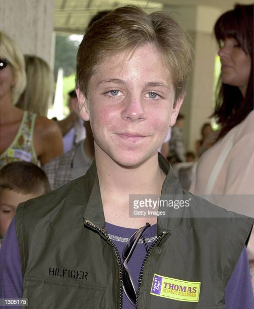 Cody McMains arrives at the premiere of the movie 'Thomas and The Magic Railroad' July 22 2000 in Los Angeles