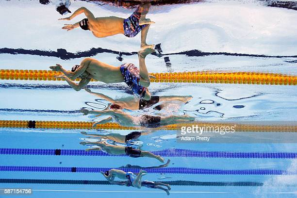 Cody Miller of the United States Adam Peaty of Great Britain Cameron van der Burgh of South Africa and Kevin Cordes of the United States compete in...