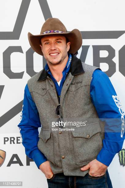Cody Nance poses on the red carpet prior to the Professional Bull Riders Iron Cowboy presented by Ariat on February 23 at the Staples Center Los...