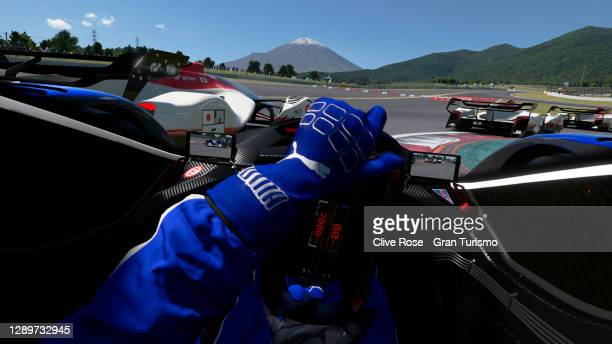 Cody Nikola Latkovski of Australia battles with Jonathan Wong of Hong Kong during race three of the FIA Gran Turismo Championship Asia & Oceania...