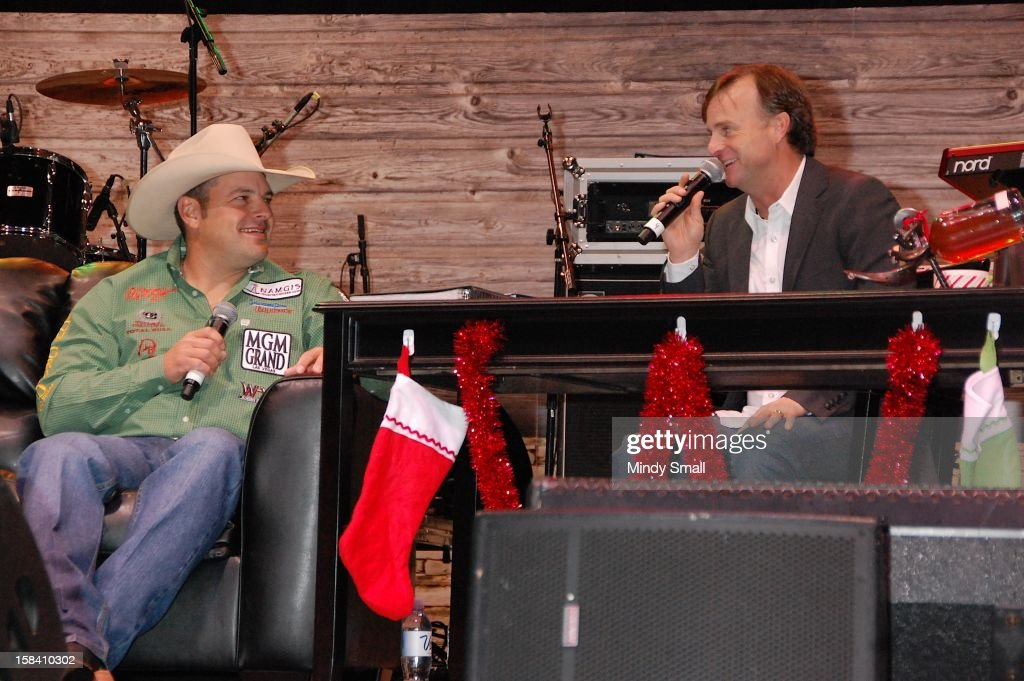 Cody Ohl and Flint Rasmussen appear at Cowboy FanFest during the Wrangler National Finals Rodeo at the Las Vegas Convention Center on December 15, 2012 in Las Vegas, Nevada.