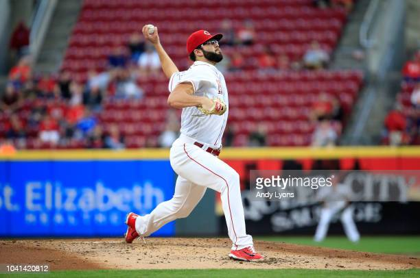 Cody Reed of the Cincinnati Reds throws a pitch against the Kansas City Royals at Great American Ball Park on September 26 2018 in Cincinnati Ohio