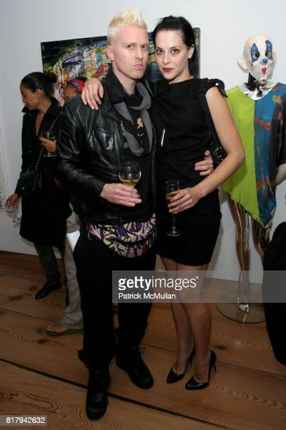 Cody Ross and Melissa Brasier attend Opening Reception of CLOWNS CHAOS AND ORDER by Marianne Aulie Cody Ross at Gallery Sand on September 14 2010 in...